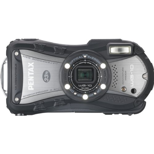 PENTAX 防水デジタルカメラ PENTAX WG-10 ブラック 1cmマクロ マクロスタンド付属 PENTAX WG-10BK 12658