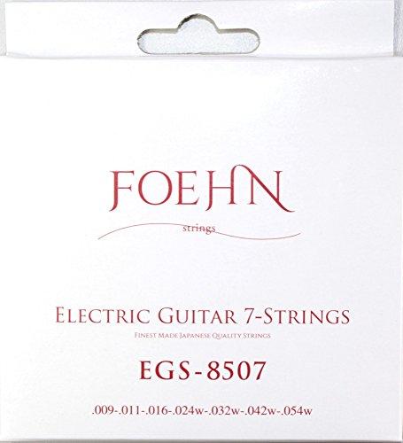 FOEHN EGS-8507 ×6セット Electric Guitar 7-Strings Super Light 7弦エレキギター弦 09-54 【199円~】安いエレキギター弦特集! 値段を気にせず常に新しい弦で練習できるおすすめ格安・激安弦!レビュー・感想【6弦、7弦、コーティング弦】