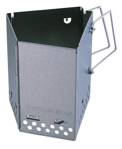 キャプテンスタッグ バーベキュー用 折りたたみ火起し器 FD 炭焼き名人 M-6638
