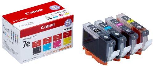 Canon 純正インクカートリッジ BCI-7e(BK/C/M/Y) 4色マルチパック BCI-7E/4MP