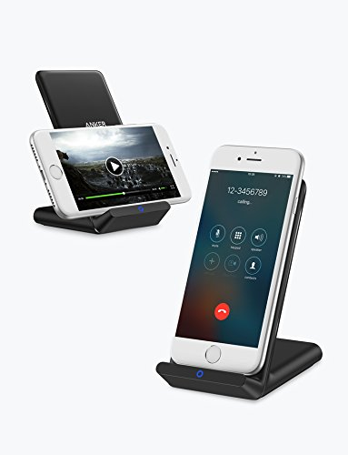 Anker PowerPort Wireless 5 Stand (第2世代 Qi ワイヤレス充電器) iPhone X/8/8 Plus、GalaxyS9/S9+/S8/S8+、その他Qi対応機種 各種対応