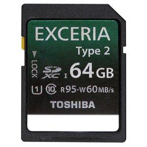 TOSHIBA SDXC UHS-Iカード EXCERIA Type2 64GB (SD-GU064G2)