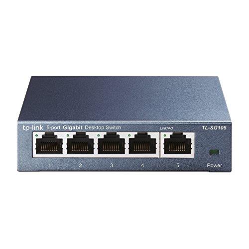 【Amazon.co.jp限定】TP-Link 5ポート スイッチングハブ 10/100/1000Mbps ギガビット 金属筺体 設定不要 ラ...