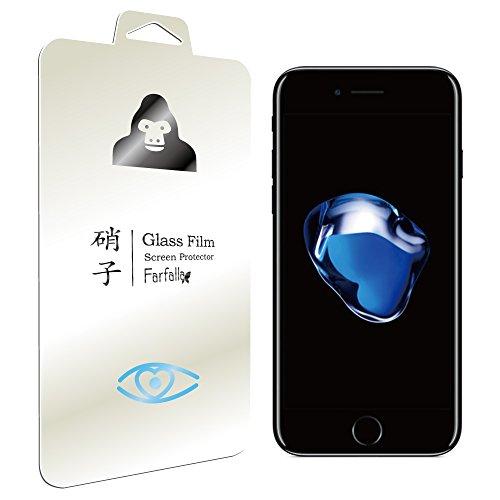 Farfalla Apple iPhone 7 ブルーライト92%カット CORNING® GORILLA® GLASS 4使用 安心交換保証付 コーティング5時間施工 強化ガラス液晶保護フィルム 0.3mm