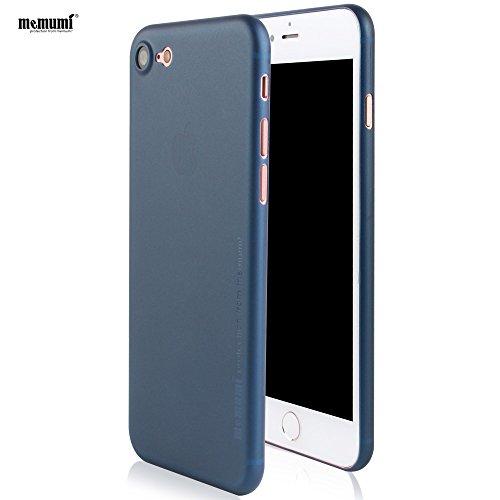 Memumiiphone7ケース 0.3㎜の スリム・薄型 防指紋 PP ケース アイフォン7 ケース ブルー