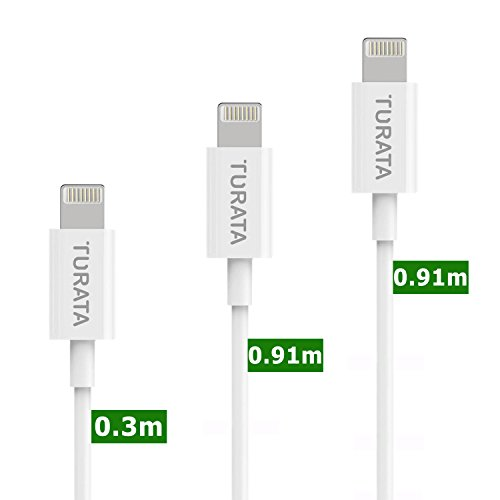 iPhoneケーブル USBケーブル スマホ急速充電 データ転送 プレミアム端子 お得なセット 品質保証付き ホワイト 91CMx2 30CMx1