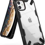 【Ringke】iPhone11 ケース iPhone 11 スマホケース ストラップホール [米軍MIL規格取得] クリア 透明 落下防止 カバー Qi ワイヤレス充電対応 iPhone XI ケース Fusion-X (Black ブラック)