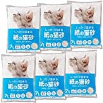【Amazon.co.jp限定】 Smart Basic 紙の猫砂 7L×6袋 (ケース販売)