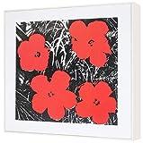 ラーソンジュール フレーム付パネル仕立てウォールアート アンディ・ウォーホル Flower (Red) 1970