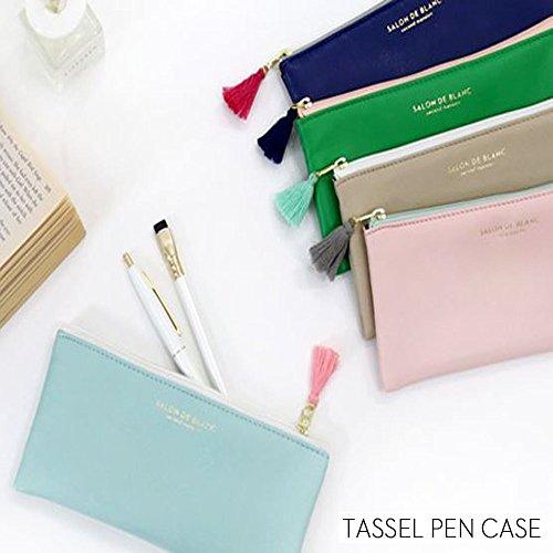 タッセル ペンケース 5色 シンプル かわいい