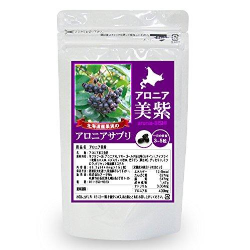 アロニア美紫(aronia-BISHI)アロニア サプリメント(北海道産果実使用) 1袋(155粒・約1ケ月~50日分)