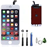 CW iPhone 6 4.7インチ交換修理用フロントパネル(フロントガラスデジタイザ)タッチパネル 液晶パネルセット 修理工具付属ホワイト