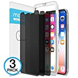Maxboost iPhone X Screen Protector, (Privacy Black, 3 Packs) iPhone X Tempered Glass Screen Protector Privacy Screen Protectors Glass Anti-Spy/Scratch/Fingerprint (Work with most case) Easy Install [並行輸入品]
