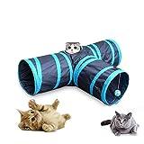 GreeSuit 猫 トンネル 猫 おもちゃ 3通 キャットトンネル ペット玩具 折りたたみ式