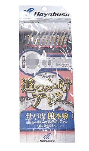 ハヤブサ(Hayabusa) 一押しサビキ 追っかけアジ サバ皮 10本 SS238 10-3-5