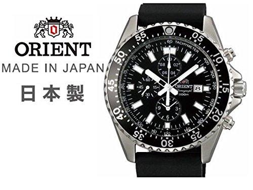 オリエント クロノグラフ ダイバー 200m防水 腕時計 日本製 Orient Chronograph 200m Divers Watch [並行輸入品]