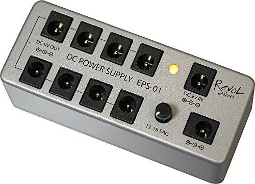 Revol effects レヴォルエフェクツ パワーサプライ DC POWER SUPPLY SET EPS-01SET (アダプター/DCケーブル付き) 小さくて安いパワーサプライ特集! エフェクターボードに邪魔にならないコンパクトなオススメ電源!【ギター・ベース】