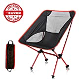 【アウトドアチェア・キャンプ用品】Linkax コンパクトチェア アルミ合金&軽量 専用ケース付き (キャンプ椅子)