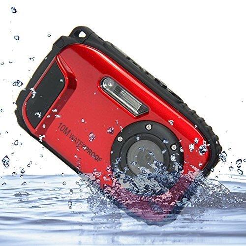 IFLYING KG003 2.7インチ液晶カメラ 16MP デジタルカメラ 8倍ズーム 水中10m 防水カメラ 水中撮影に適用 (...