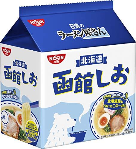 日清のラーメン屋さん 函館しお 5食パック 435g ×6袋