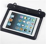 Bravebird タブレット 防水ケース iPad mini 7インチ 水深10M 防水保護等級 IPx8 スタイリッシュ 防水 iPad mini PC ポータブルゲーム (ブラック 横型) bb908a