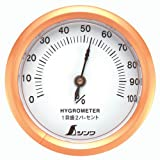 シンワ測定 湿度計 T-3 丸型 6.5cm 72668