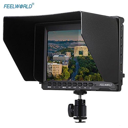 Feelworld FW74K ビデオカメラ 7'' HD IPS 液晶モニター 1280 * 800 HDMI 4K UHD 3840 * 2160p(29.97/25/23.98) をサポートする バッテリーバックルプレート付きパナソニックGH4用 Canon Nilkon Sony デジタル一眼レフカメラ用