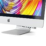 Satechi アルミニウム Type-C クランプハブ Pro USB-C データポート, 3 USB 3.0, Micro/SDカードリーダー (2017 iMac Pro, iMac Retina 4K, 27インチ5K対応) (シルバー)