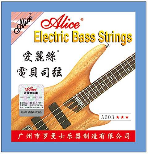 Alice Electric Bass Strings Set A603 4st Light .040 .060 .075 .095 酸化防止コーティング [並行輸入品] 【560円~】安いベース弦特集! 値段を気にせず常に新しい弦で練習できるおすすめ格安・激安ベース弦!レビュー・感想【4弦・5弦・6弦・コーティング弦】
