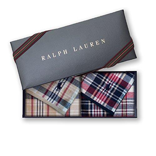 ラルフローレン 【RALPH LAUREN】タオルハンカチ2枚セットwithギフトボックス カラーを選択,1010・エドガータウンマドラスガーゼ