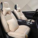汎用 クッション カー シートカバー - プレミアムラグジュアリー自動車用ユニバーサルシートカバーセット、5席、9個, 6色 (Color : E)