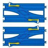 プラレール 複線わたりポイントレール(2本入) R-24