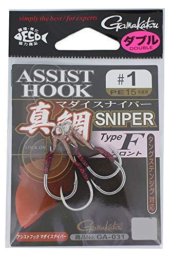 がまかつ(Gamakatsu) アシストフック 真鯛スナイパー TypeF #1 GA-031