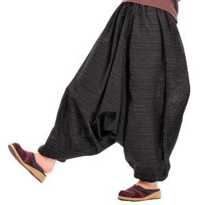 流行に敏感なアナタの サルエル パンツ メンズ&レディース ユニセックス ダンス M@T0504 ブラック