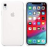 iPhone XR 6.1'' ケース アイフォンX カバー 薄型 - 液態シリカゲル素材 精細ファイバー裏地 落下 衝撃 吸収 指紋防止 純正 iPhone XR ケース (iPhone XR (6.1''), ホワイト)