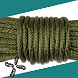 パラコード 4mm 9芯 30m 【oskpower 2018年最新型】 耐荷重250kg テント ロープ パラシュートコード キャンプ サバイバル アウトドア 用 (軍緑)