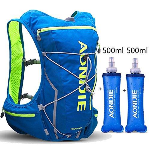 AONIJIE 登山リュック ザック ハイドレーションバッグ ランニングバッグ サイクリングバッグ 軽量 自転車バックパック 10L (blue-250ml)