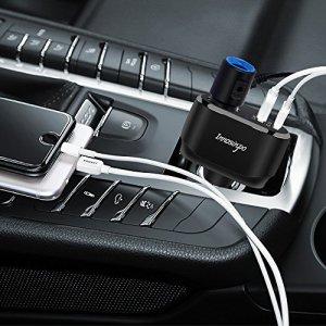 Innosinpo カーチャージャー シガーソケット 車載充電器 急速 QC3.0 24W/4.8A 2ポート Quick Charge 12/24V車対応 シガーチャージャー