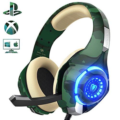 Beexcellent ゲーミングヘッドセット ps4 ヘッドセット PC ヘッドホン ヘッドフォン 高集音マイク付き pc用...