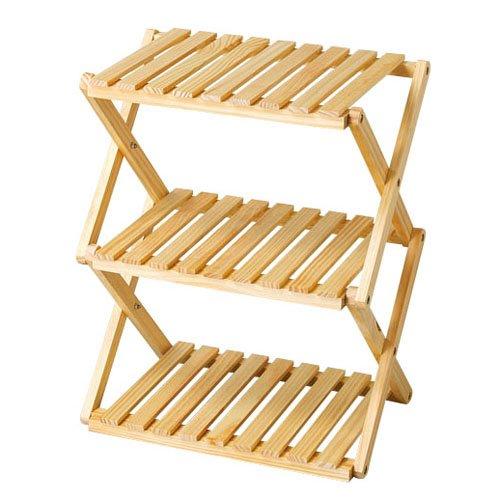 コーナンラック 折り畳み式木製ラック3段 LFX01-5814