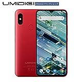 UMIDIGI F1 SIMフリースマートフォン Android 9.0 5150mAh大容量バッテリー 18W 高速充電6.3インチ FHD+ 大画面 ノッチ付きディスプレイ 128GB ROM + 4GB RAM Helio P60オクタコア 16MP+8MPデュアルリアカメラ 技適認証済み 顔認証 指紋認証 NFC対応 auキャリア不可 (レッド)