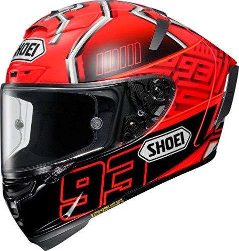 ショウエイ(SHOEI) バイクヘルメット フルフェイス X-Fourteen MARQUEZ4 (マルケス4) TC-1 RED/BLACK M (頭囲 57cm)