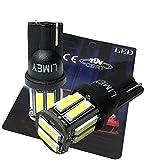 (ライミー) LIMEY 最新!5W級 爆光 T10 LED バルブ ホワイト 白 ポジション ウエッジ SMD7020 10連×2SMD 20チップ搭載 6000K ナンバー ルームランプ 取説&保証書付 2個入 【ベース:黒】- 7020B2