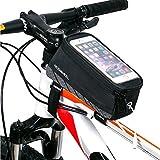 BestFire 自転車トップチューブバッグ サイクリングフレームバッグ  自転車 バイク フレーム バック  収納可能 ナビ  防水 タッチスクリーン 分離 式 5.8インチスマホ対応 イヤホンホール付き iPhone6 6plus 5 5S 5C 4S 4 / Samsung Galaxy s6 edge/ s6 edge+/S4 / S3等対応