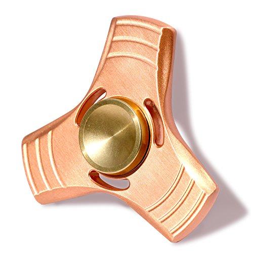 SUNKONG® ハンドスピナー hand spinner セラミック軸受 三角 全銅製 (赤い銅)