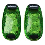 Salerno(サレルノ) LEDクリップライト 日本語説明書付き グリーン2個セット