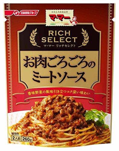 マ・マー リッチセレクト お肉ごろごろのミートソース 260g×6個