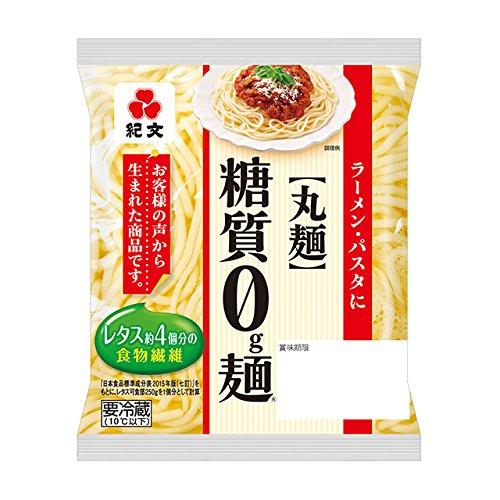 紀文 糖質0g麺 丸麺 12個セット