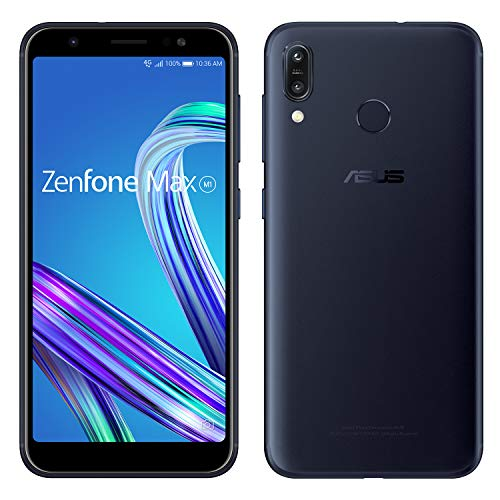 ZenFone Max M1  【日本正規代理店品】 5.5インチ / SIMフリースマートフォン / ディープシーブラック (3GB...