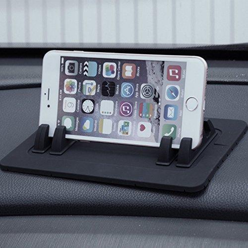 EReachシリコンスマートフォン・携帯車載GPSホルダー ダッシュボード iPhoneAndroid スタンド 黒